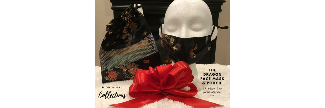 The Dragon Face Mask and Pouch